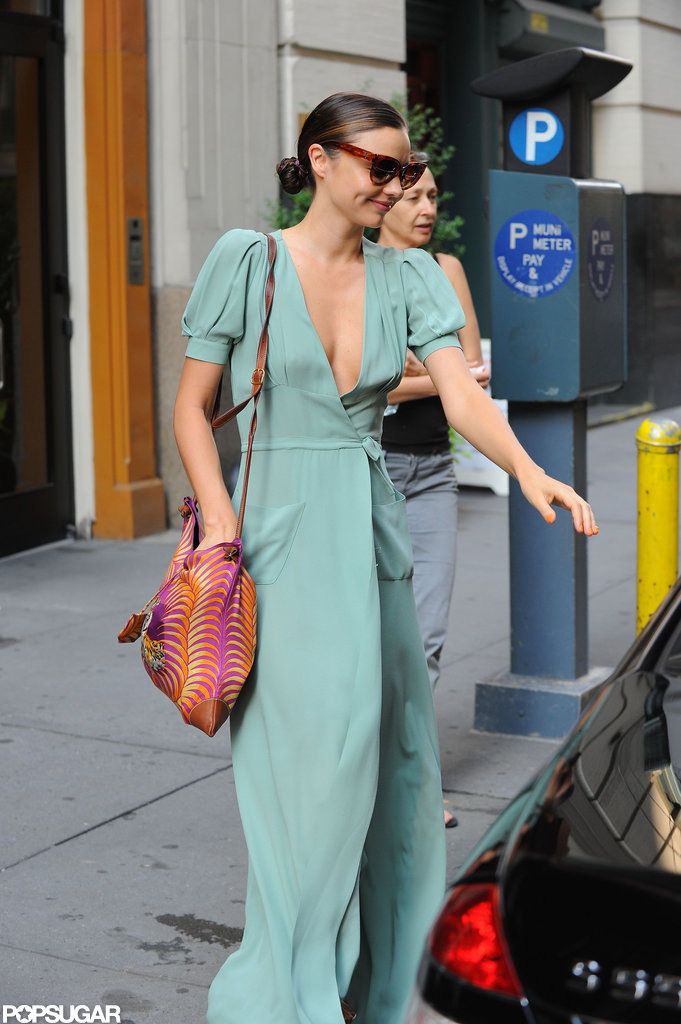 Miranda Kerr left a Big Apple building.