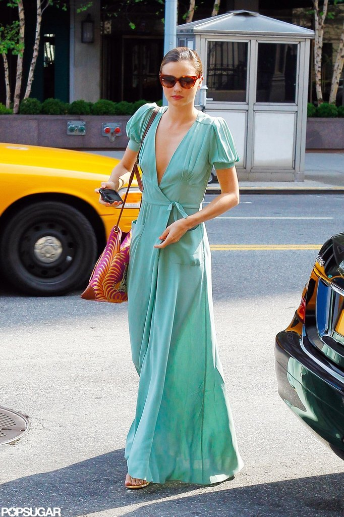 Miranda Kerr rocked a teal dress.