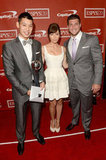Jessica Biel and Tim Tebow presented the breakout athlete of the year award to basketball star Jeremy Lin.