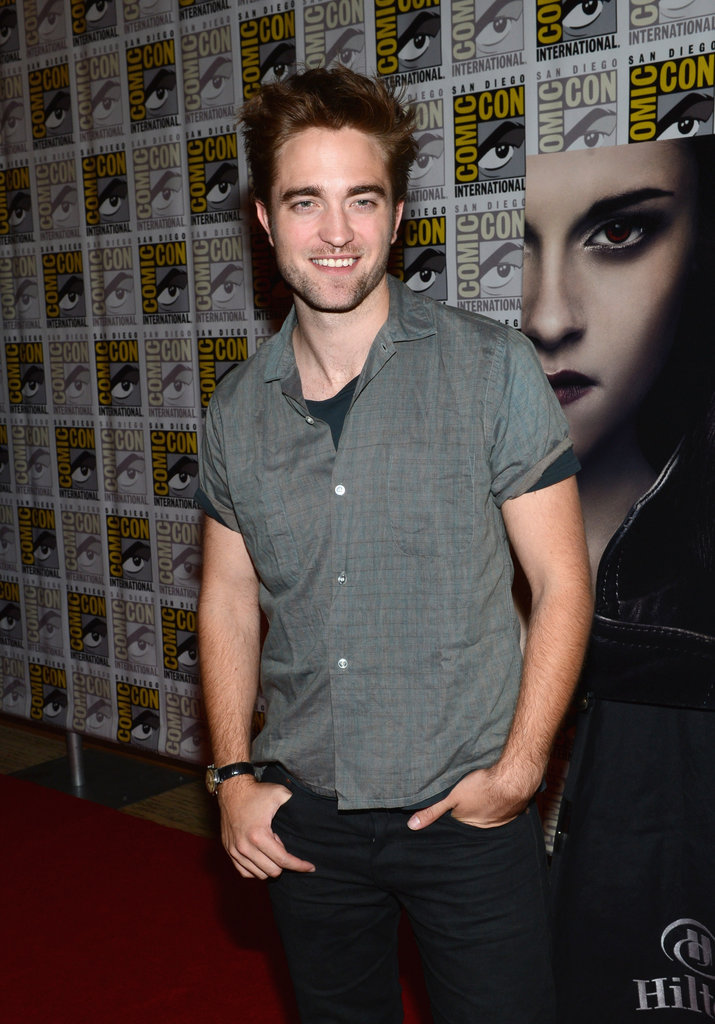 Robert Pattinson talked about Breaking Dawn — Part 2 at Comic-Con.