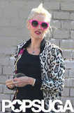Gwen Stefani wore a pop of color in Hollywood.