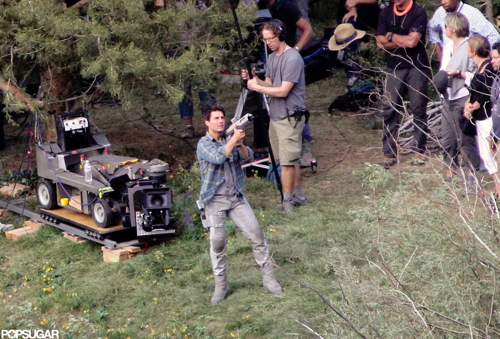 Tom Cruise filming in action.