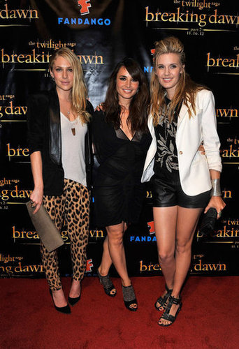 Maggie Grace got together with Mia Maestro and Casey LaBow at the Breaking Dawn Part 2 party at Comic-Con.
