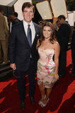 Eli Manning and Danica Patrick smiled on the ESPY Awards red carpet.