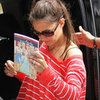Katie Holmes Wearing Stripes Pictures With Suri Cruise