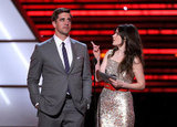 Zooey Deschanel and Aaron Rodgers presented an ESPY award.