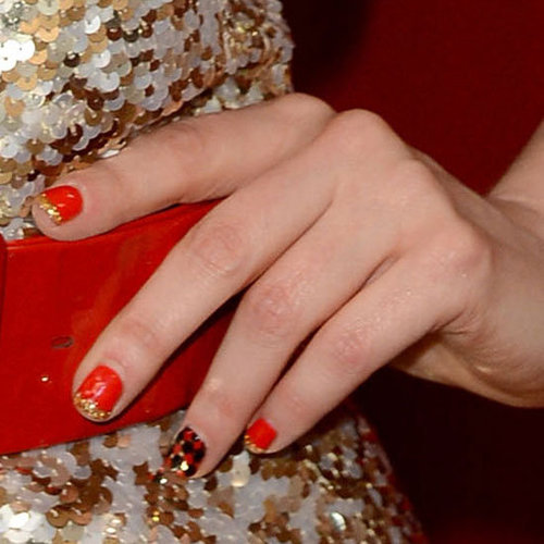 Copy Zooey Deschanel's Cool Nail Art Design at Home