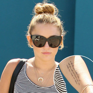 Miley Cyrus Gets a President Theodore Roosevelt Quote Tattooed on Her Arm