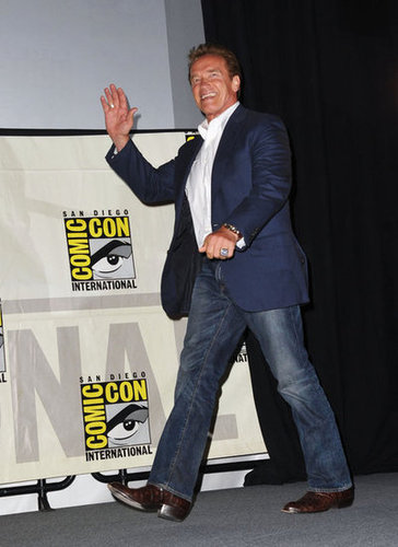 Arnold Schwarzenegger promoted The Expendables 2.