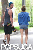 Liam Hemsworth and Miley Cyrus walked together in LA.