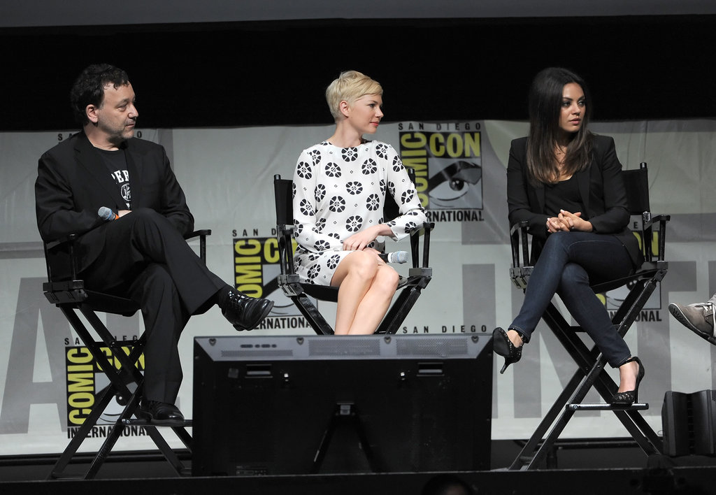 Sam Raimi, Michelle Williams, and Mila Kunis took the stage together at Comic-Con.