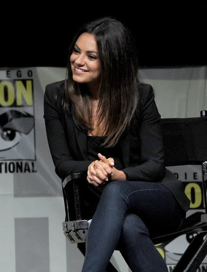Mila Kunis smiled while talking about Oz: The Great and Powerful at Comic-Con.