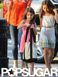 Suri Cruise let her hair down at Chelsea Piers.