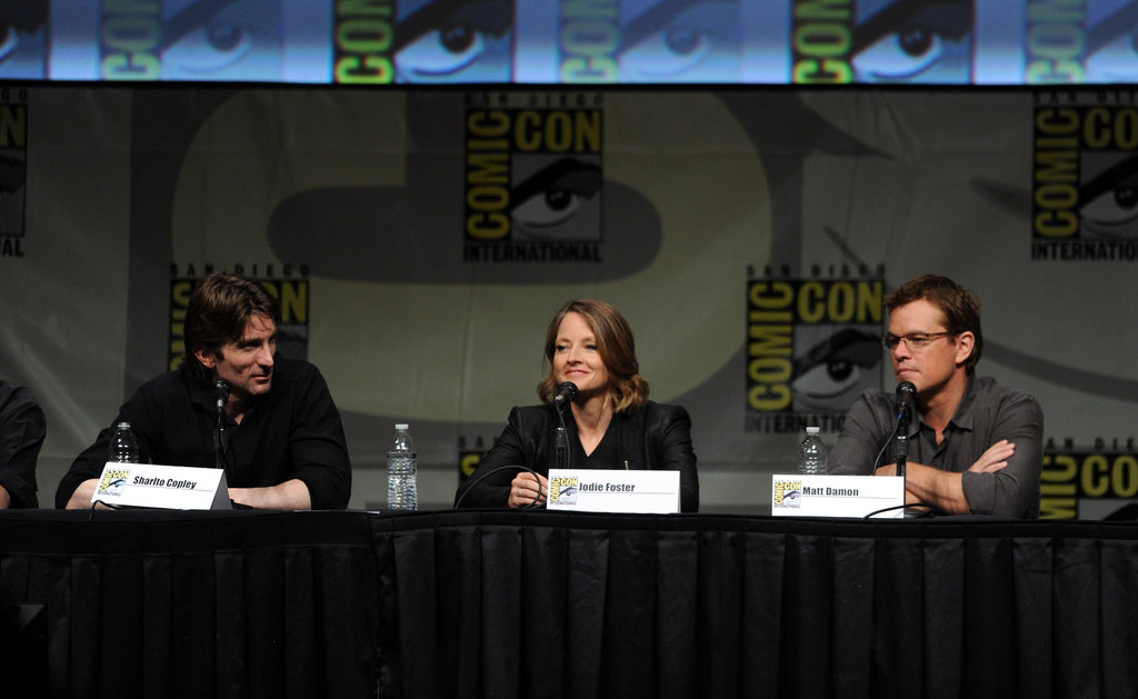 Sharlto Copley, Jodie Foster, and Matt Damon were at Comic-Con.