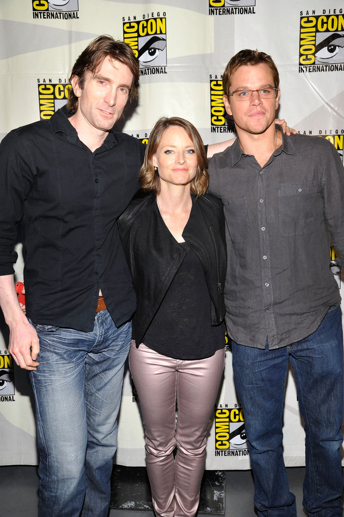 Sharlto Copley, Jodie Foster and Matt Damon at the San Diego Convention Center.