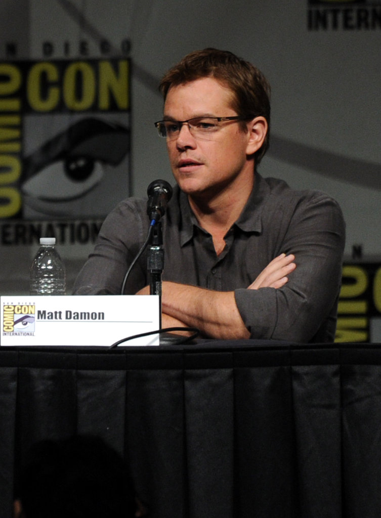 Matt Damon promoted Elysium.