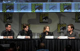 Sharlto Copley, director Neill Blomkamp, Matt Damon, and Jodie Foster talked Elysium.