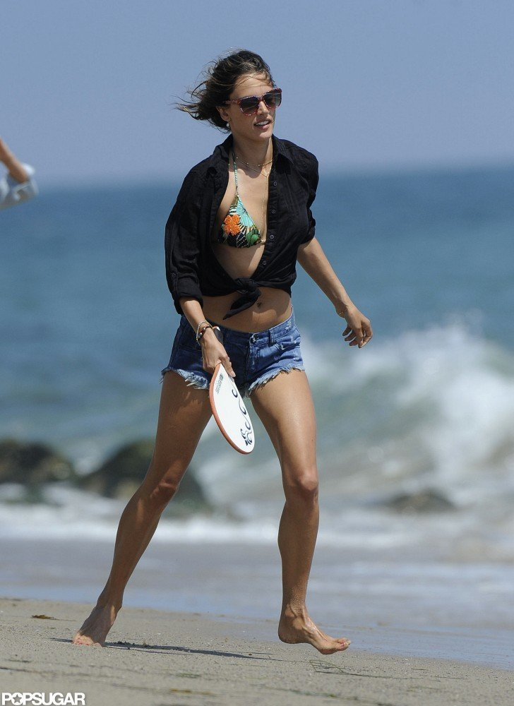 Alessandra Ambrosio Brings Her Bikini and Anja to the Malibu Beach