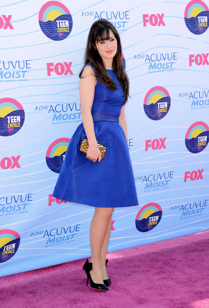 Zooey Deschanel at the Teen Choice Awards.