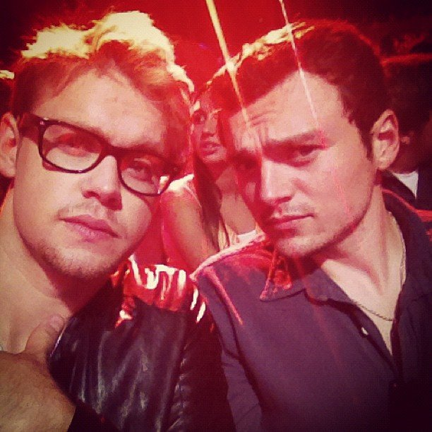 Chord Overstreet posed with a friend. Source: Instagram user chordover