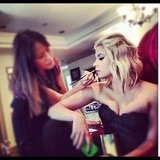 Ashley Benson had her makeup done. Source: Instagram user itsashbenzo