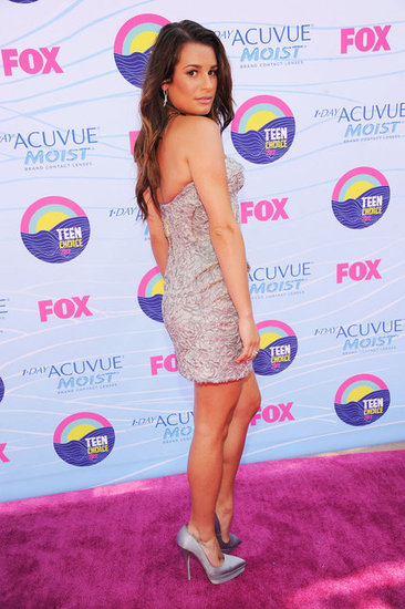 Lea Michele Goes Sparkly and Strapless For the Teen Choice Awards