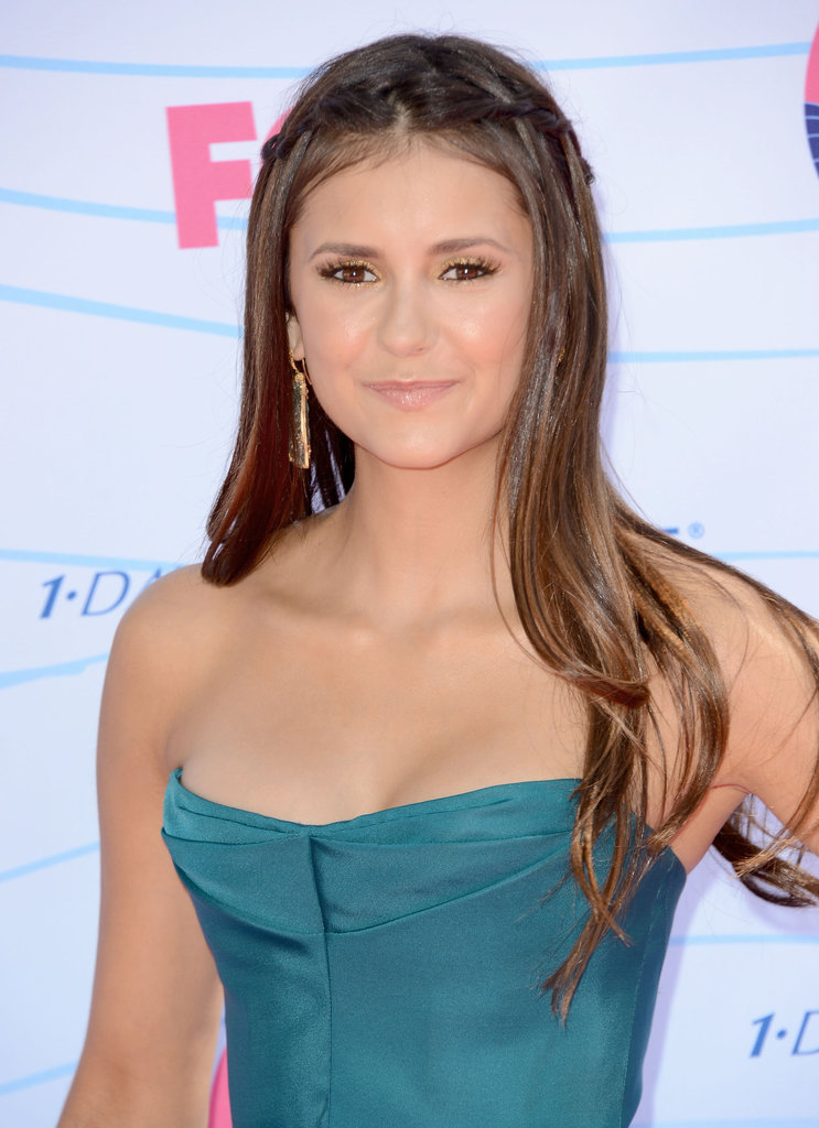 Nina Dobrev arrived at the Teen Choice Awards.
