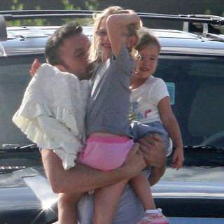 Ben Affleck Welcomes His Family to Puerto Rico