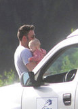 Ben Affleck with his son Samuel Affleck.
