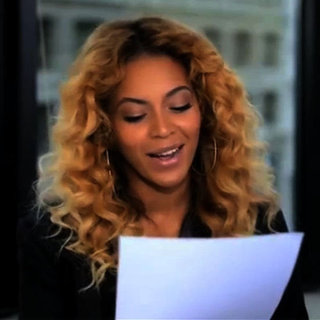 Beyonce Reads Letter to Michelle Obama (Video)