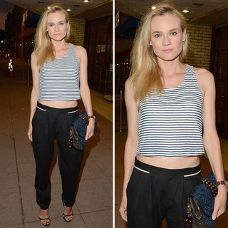 Diane Kruger Wears a Striped Crop Top