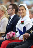 Crown Princess Victoria wore traditional dress during her 35th birthday  celebrations.
