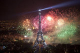 The Bastille Day fireworks were breathtaking.