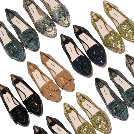 Miu Miu's New Glitter Shoes Are Here