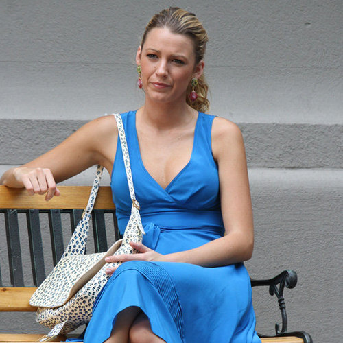 Blake Lively Wearing a Blue Dress on Gossip Girl