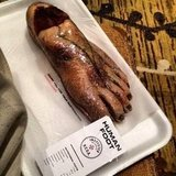 Yes, that is an edible foot. You take whatever food you can get at Comic-Con!