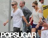 Jennifer Lopez and Casper Smart showed PDA.