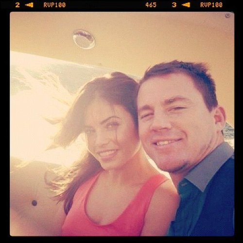 Channing Tatum and Jenna Dewan-Tatum shared a photo from their time on George Clooney's boat in Italy in July. Source: Instagram user channingtatumunwrapped