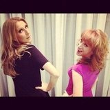 Kathy Griffin and Celine Dion showed off their sexy sides. Source: Instagram user kathygriffin