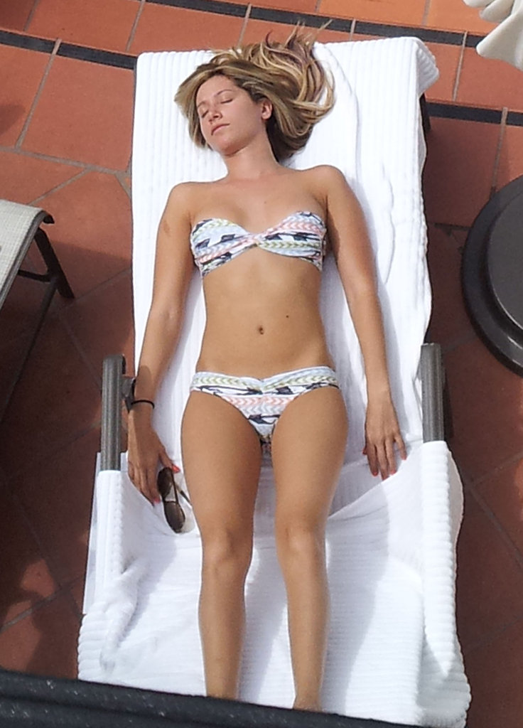 Ashley Tisdale wore a sexy bikini.