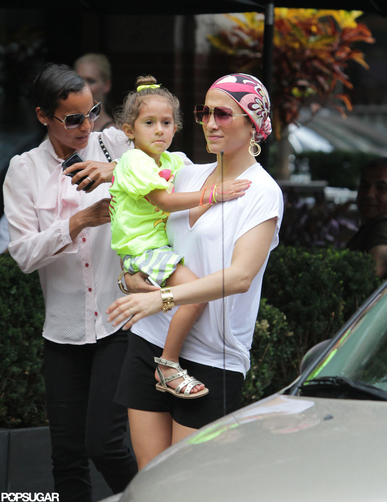 Jennifer Lopez and Emme Anthony strolled in Toronto.
