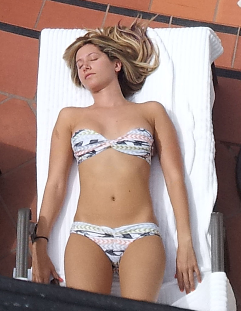 Ashley Tisdale Relaxes in a Bikini Before Celebrating a Pal's Wedding
