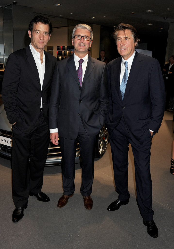 Clive Owen, Bryan Ferry, and Rupert Stadler checked out Audis.
