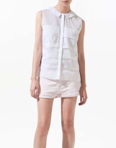 A blouse that's breezy and not at all overexposed means it's perfect for taking to the office in 100-degree heat.  Zara Frilled Blouse With Peter Pan Collar ($36, originally $50)
