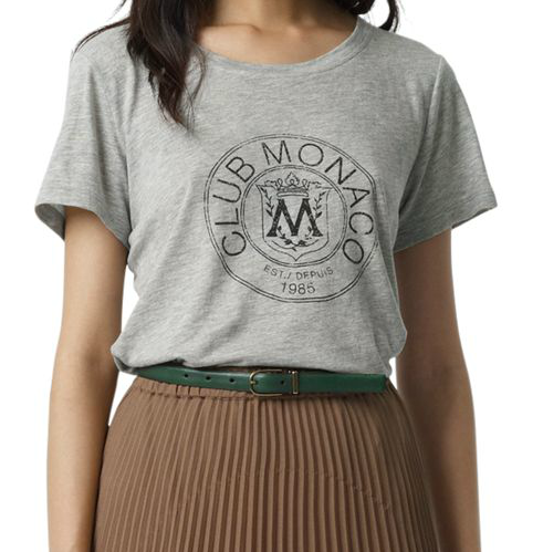 One surefire way to excel on the vintage front? Don a heritage-inspired crest. Club Monaco Carolyn Graphic Tee ($50)
