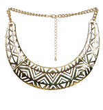 A bib necklace like this was made for lighting up your neckline. Add it to even your basic cotton tees and watch the compliments roll in.  Aztec Cut Out Bib Necklace ($24)