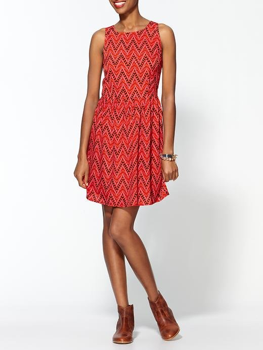 A little print goes a long way — so much so that there's no need to overwhelm this look with clunky shoes or accessories.  Jack by BB Dakota Aiko Dress ($64)