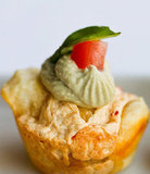 Mini Pepperjack Savory Cupcakes With Creamy Pesto Swirl