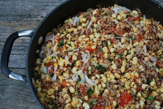 Corn and Manchego Tri-Color Quinoa Salad | POPSUGAR Social