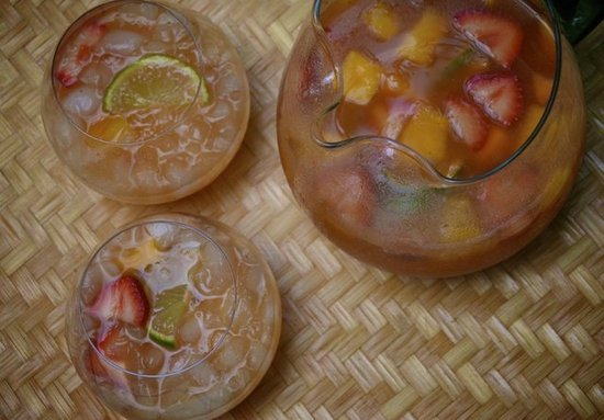 Summer Tea and Wine Punch